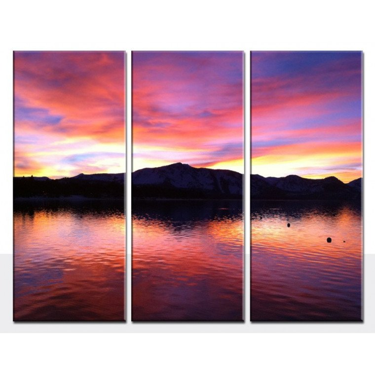 3 PANEL TRIPTYCH