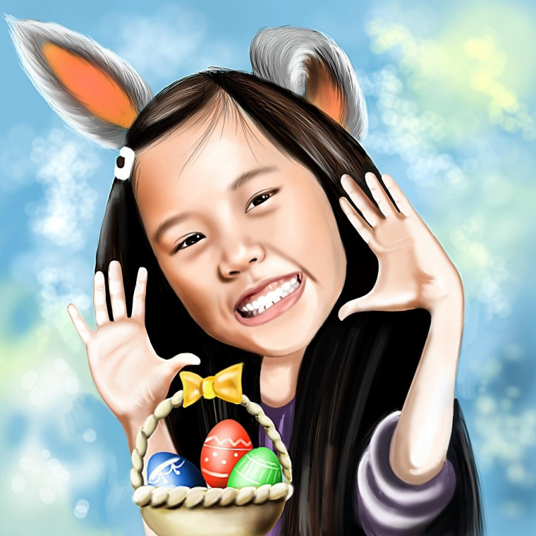 Easter Themed Caricature