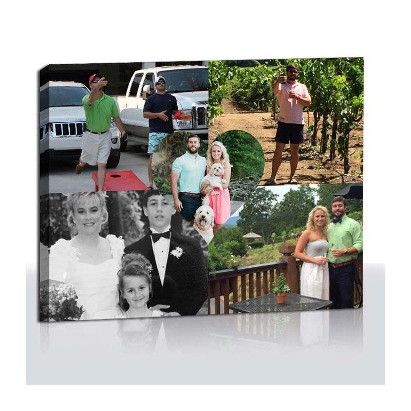 enjoy multiple photos on canvas with a photo canvas collage from