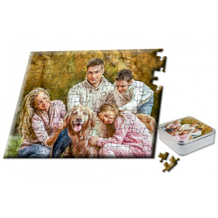 "Snappy Photo Puzzle  8""x10"" 110 Piece includes custom Tin Box"