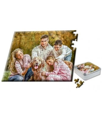 "Snappy Photo Puzzle  8""x10"" 110 Piece includes custom Tin Box"
