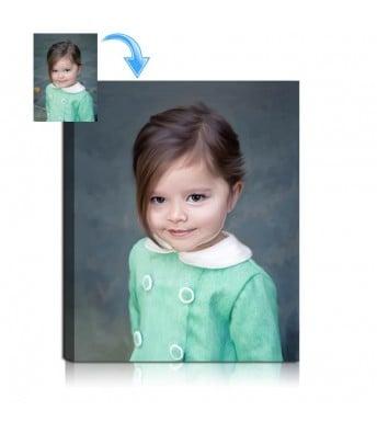 Child Oil Portrait Painting
