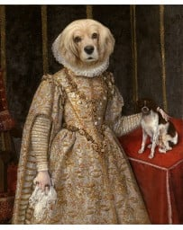 Doggy Duchess Painting