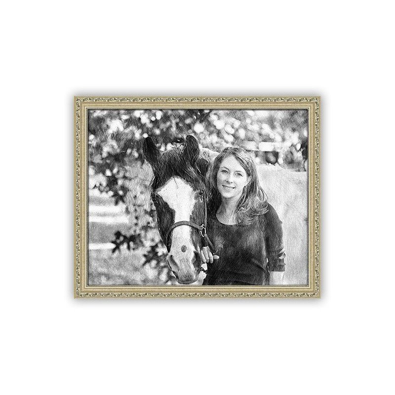 pencil sketch effect for your photos on canvas and pet ...