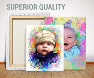 color splash baby canvas gift sample