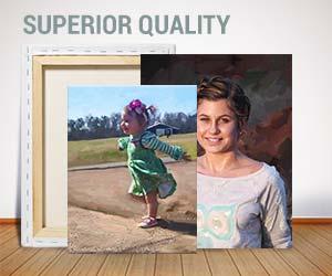 Painterly sample portrait