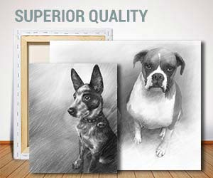 pencil on canvas art sample