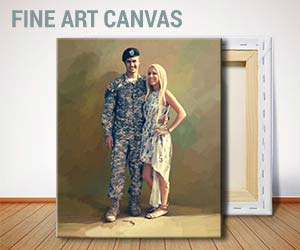 Army Photo to Painting Portrait